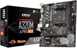 MSI A320M-A PRO MAX Motherboard mATX AM4 - £34.98 delivered @ Amazon