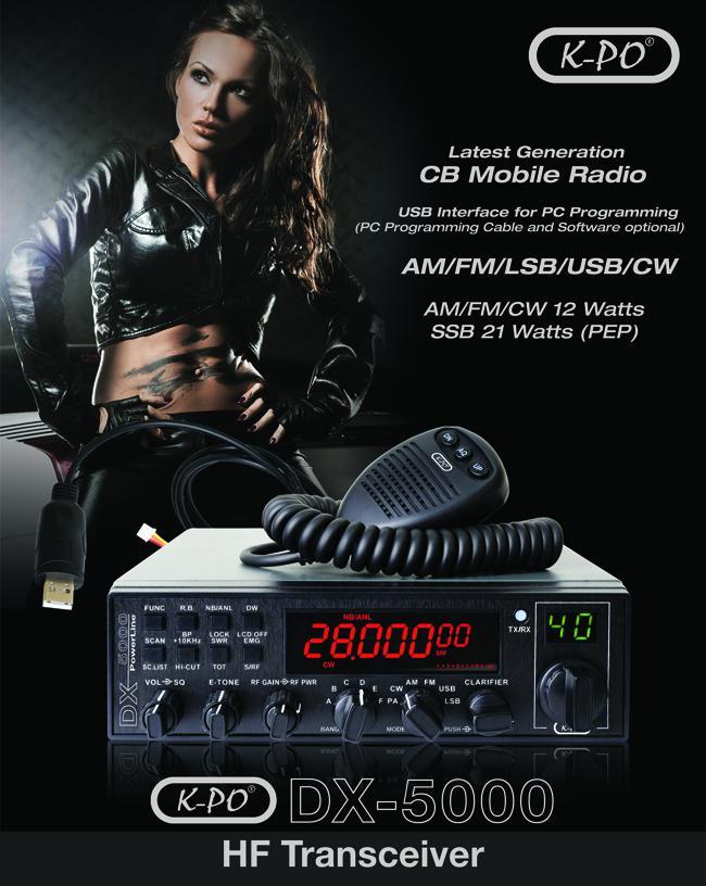 K-Po   Dx-5000   Am   Fm   Ssb 10/11 Meter   Version 6.0 Transceiver - £199 delivered @ RadioWorld