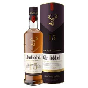 Glenfiddich 15 year single malt whisky 70cl for £35 at Sainsbury's