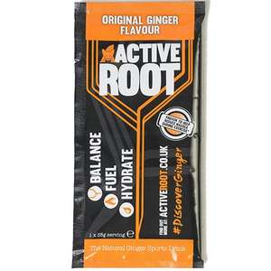 Free active root drink (various flavours) via Active root