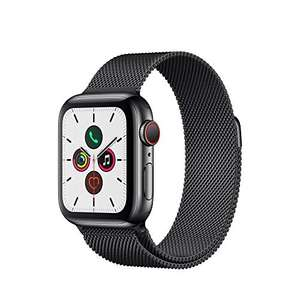 Apple Watch Series 5 (GPS + Cellular, 40mm) - Space Black Stainless Steel Case with Black Milanese Loop £386.64 @ Amazon