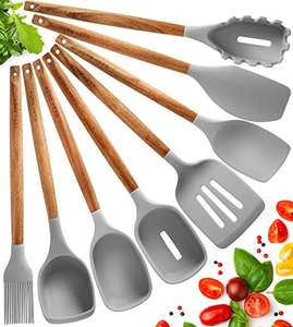 Silicone Kitchen Utensil Set - 8 pcs £7.99 Prime with £12 Off voucher (+£4.49 non prime) Sold by Yellapro Limited and Fulfilled by Amazon