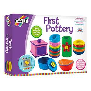 Galt Toys, First Pottery, Kids' Craft Kits, Ages 6 Years Plus £4.81 Prime (+£4.49 Non-Prime) @ Amazon