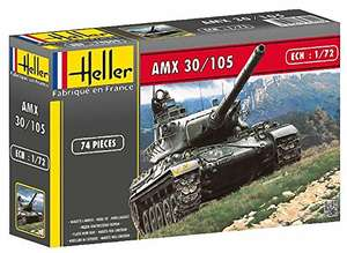 Heller 1:72 Scale AMX 30/105 Model Tank Kit £1.91 (+£4.49 non-prime) @ Amazon