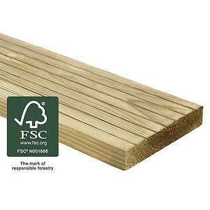 Wickes Deck Board - 25mm x 120mm x 1.8m for £4 each click & collect @ Wickes