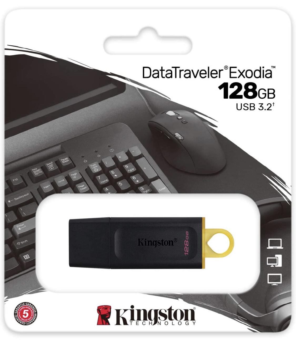 Kingston DataTraveler Exodia DTX/128GB Flash Drive USB 3.2 - £11.49 (+£4.49 non-Prime) @ Amazon