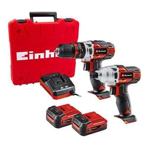 Einhell TE-TK 12 LI 12V Combi Drill and Impact Driver 2 Piece Kit with 2x 2Ah Batteries & Charger - £83.99 at ITS