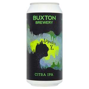 Craft Ale Cans £2 using clubcard E.G Buxton Lupulus X Citra Ipa 440nl @ Tesco
