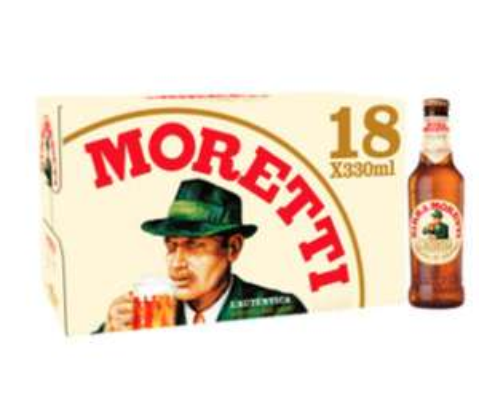 Birra Moretti 18 x 330ml Bottles for £9 Blackpool Sainsbury's
