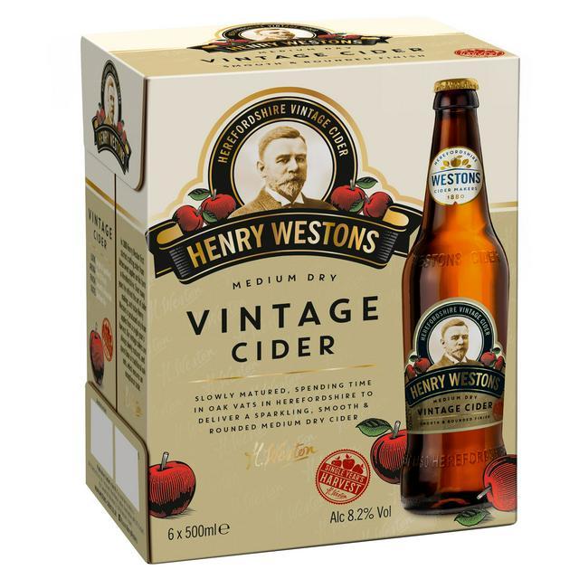 Henry Westons Vintage Cider 6 bottles £4.50 @ Sainsburys (Upton)