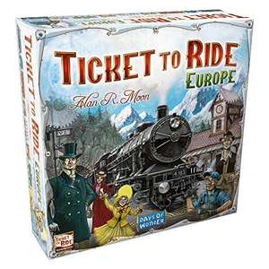 Ticket to Ride Europe Board Game | Ages 8+ | For 2 to 5 players £19.97 prime / £24.48 non prime @ Amazon