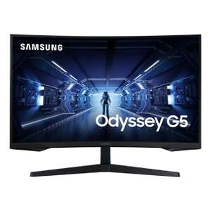 """Samsung Odyssey G5 27"""" QHD 144Hz Freesync VA Curved Gaming Monitor, £208 with code (32"""" QHD at £279.20) at Samsung"""