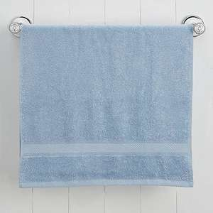 Simply Soft Pale Blue Bath Towel now 25p Free click and collect @ Dunelm