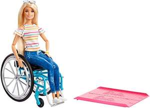 Barbie GGL22 Doll and Wheelchair, Blonde - £11.86 (+£4.49 Non Prime) @ Amazon