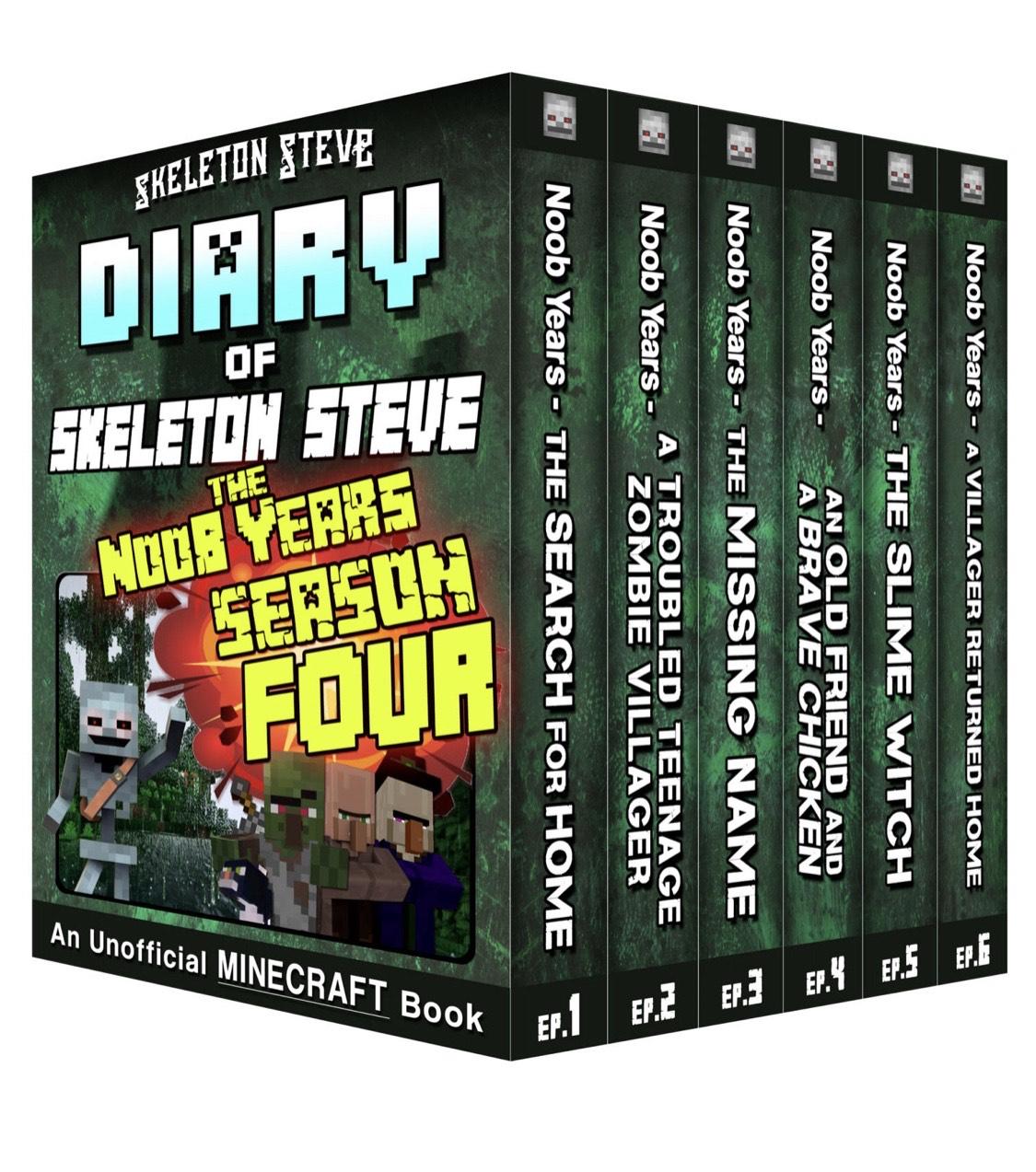 Free Kindle books - Minecraft Diary of Skeleton Steve the Noob Years - Full Season Four @ Amazon