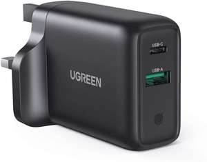 UGREEN USB C Charger Plug UK 36W Dual Type C 18W QC 3.0 PD Quick Charge Mains Adapter - £12.79 Prime/+£4.49 NP @ Sold by UGREEN UK and FBA