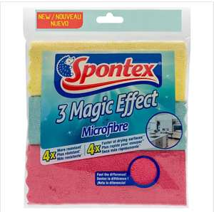 Pack of 3 Spontex Magic Microfibre Cloths - 75p (Free Click+Collect in a Few Stores) @ Dunelm