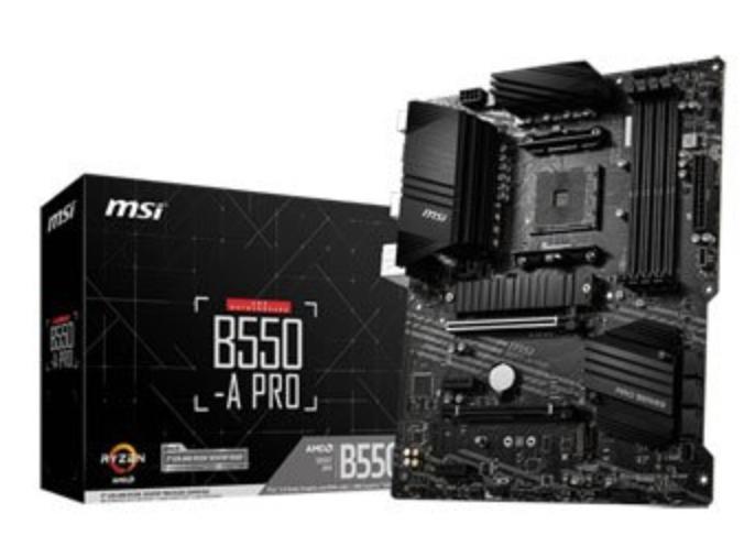 MSI AMD B550 B550-A PRO ATX Motherboard - £99.98 @ Scan