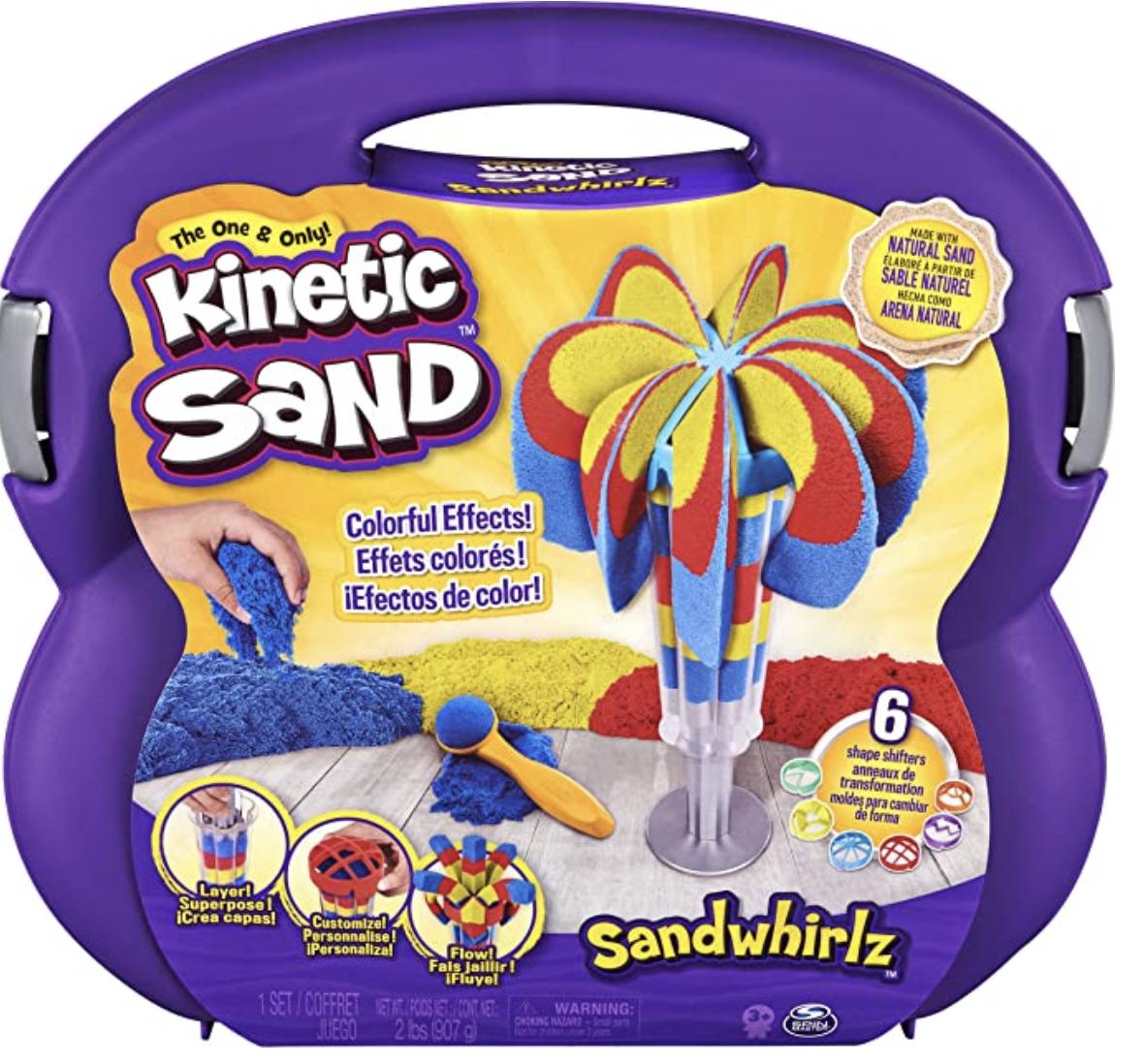 Kinetic Sand Sandwhirlz Playset with 3 Colours of Kinetic Sand (907g) - £12.99 (+£4.49 Non-Prime) @ Amazon