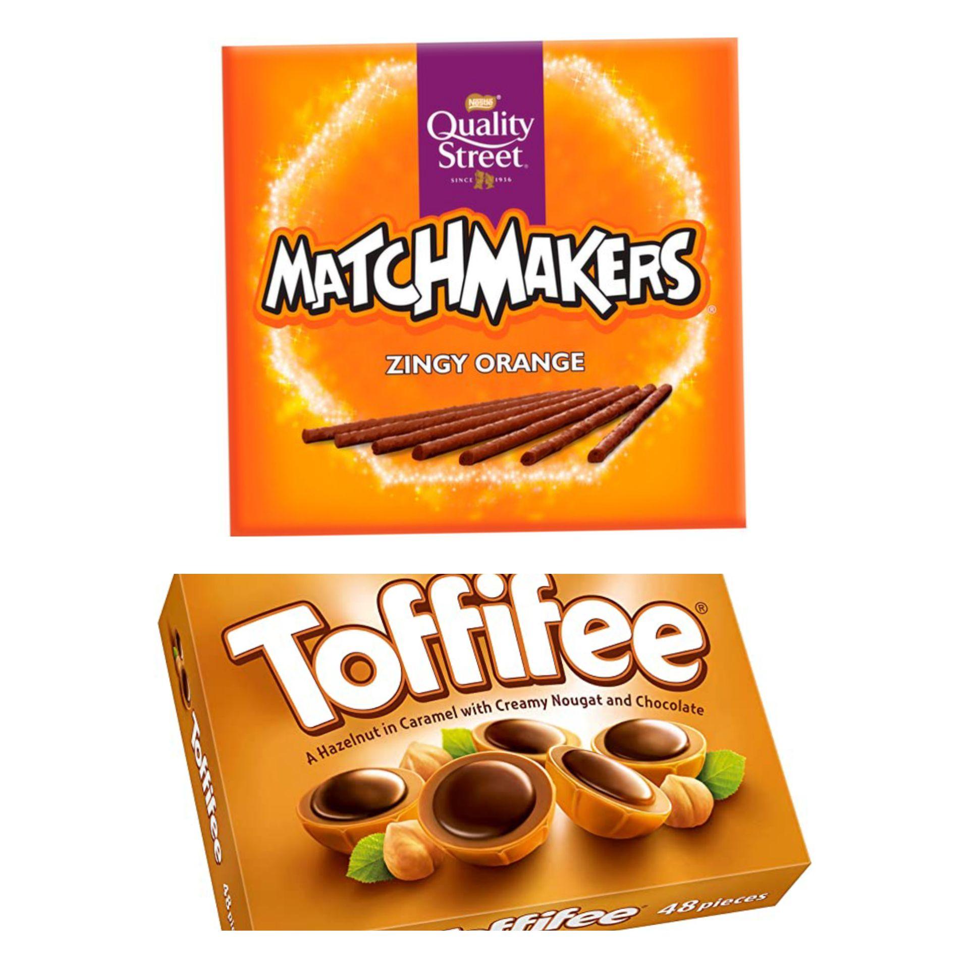 Quality Street Matchmakers Zingy Orange Chocolates 120g/ Toffifee 100g - 98p @ Asda