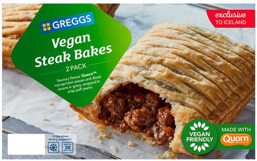 Greggs 2 Vegan Steak Bakes 304g for £1 (Online only) @ Iceland