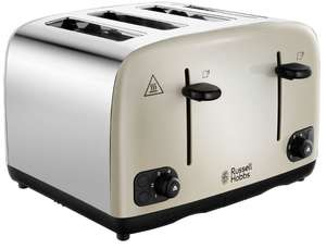 RUSSELL HOBBSCavendish 24091 4-Slice Toaster - Cream £19.99 at Currys PC World
