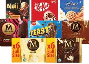 Any 2 For £4 On Premium Ice Creams Includes Kitkat Ice Cream x4, Magnum Classic And White x6 And More All In the Description £4 @ Farmfoods