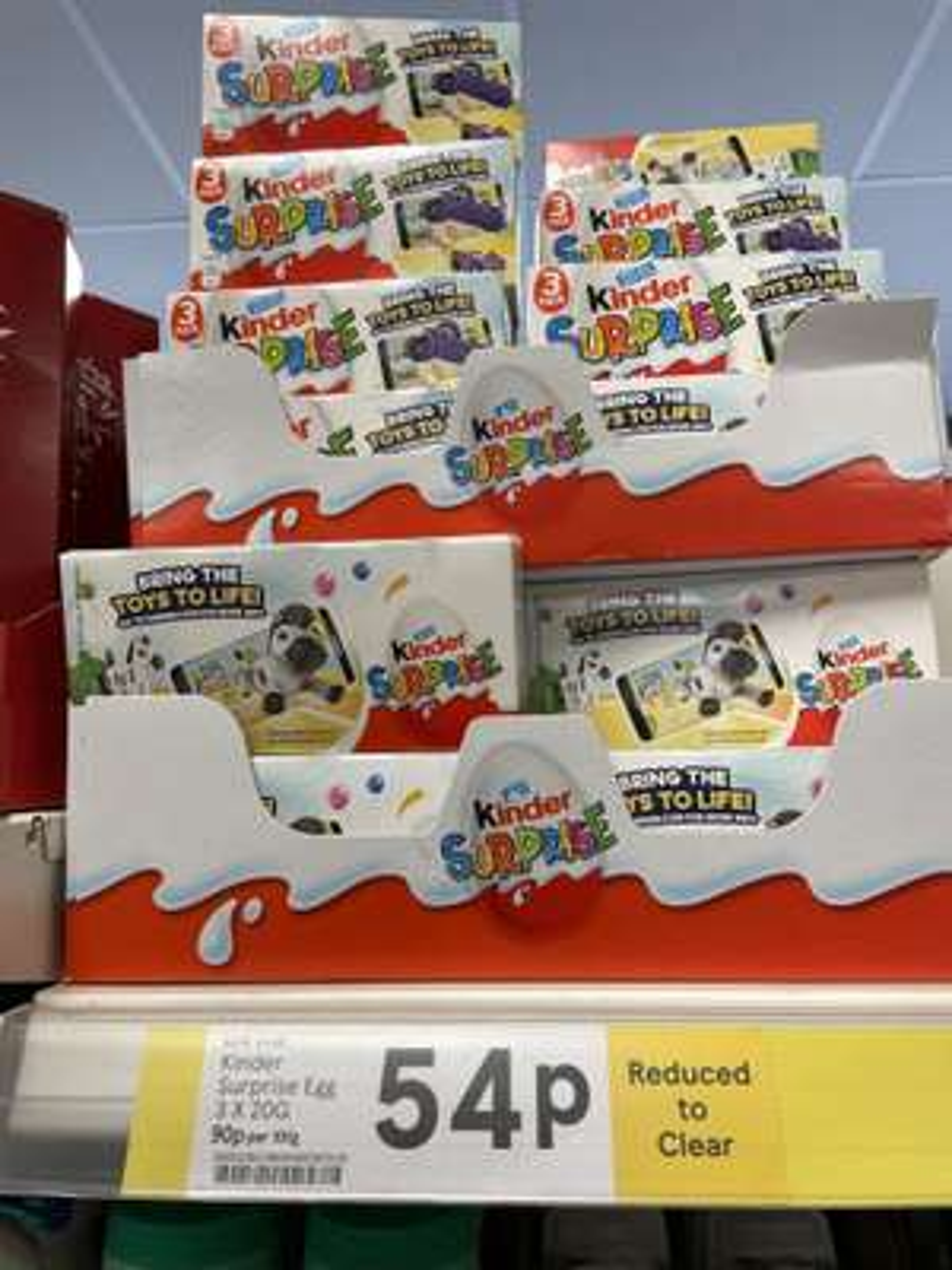 Kinder surprise - 3 for 54p - Instore Tesco Express Mitcham