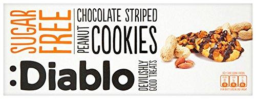 Diablo Sugar Free Peanut and Chocolate Striped Cookies 150g - £0.91 (+£4.49 Non-Prime) @ Amazon