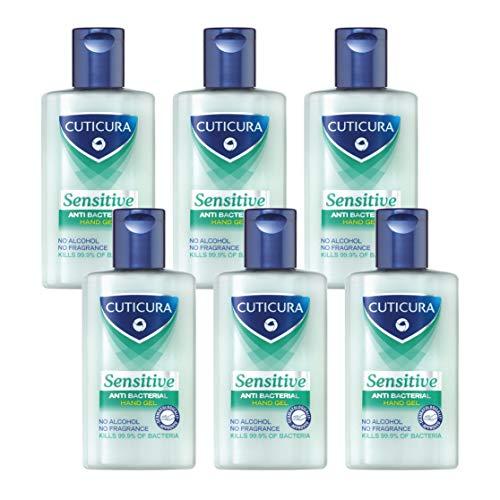 Cuticura Sensitive Anti Bacterial Hand Gel 100ml (Pack of 6) £3.84 Prime (+£4.49 Non-Prime) @ Amazon