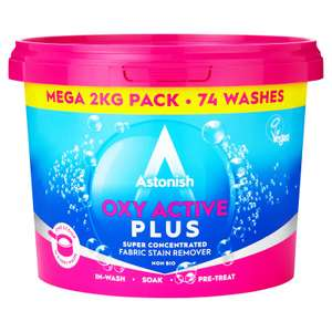 Astonish stain remover. 2kg pack, £1 in store at B&Q Derby