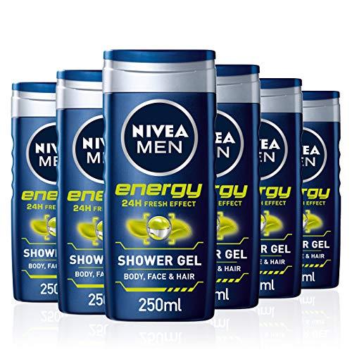 6 x Nivea Energy for men £6 Amazon Prime (+£4.49 Non Prime) or £4.50 on subscribe and save @ Amazon