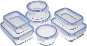 Amazon Basics Glass Locking Containers 14 Pieces (7 Containers + 7 Lids), £9.73 (+£4.49 non Prime) at Amazon