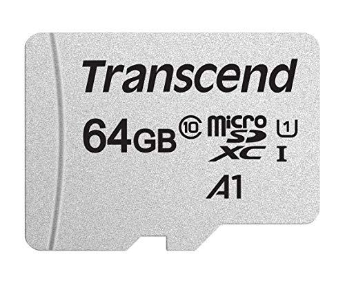 64GB - Transcend microSDXC 300S Memory Card A1/C10/U1, 95/40MB/s - £4.68 Prime / 128GB - £11.81 Prime (+£4.49 Non Prime) @ Amazon