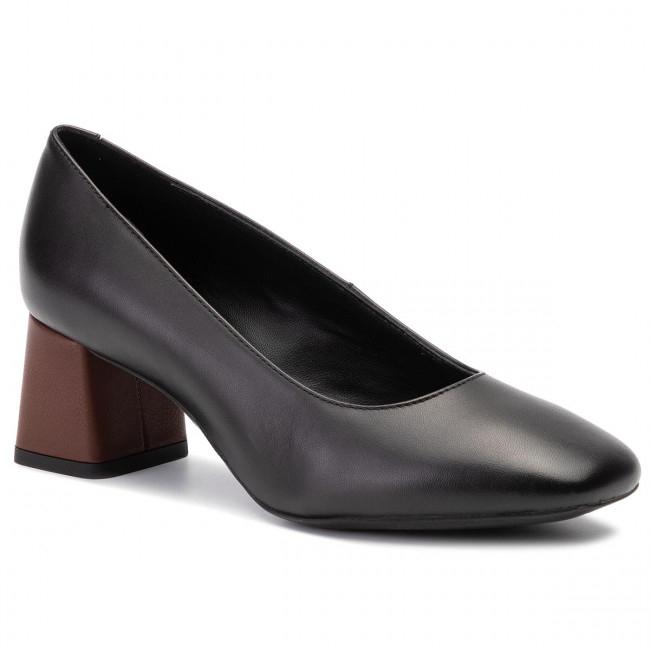 GEOX Black Leather Seyla Heels £29.98 delivered @ TK Maxx