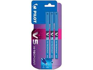 Pilot V5 Liquid Ink Rollerball 0.5 mm Tip - Blue, Pack of 3 £1.53 (Prime) + £4.49 (non Prime) at Amazon