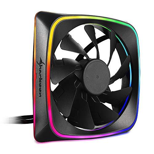 Sharkoon RGB Shark Lights 120MM Case Fan Black, £6.17 (+£4.49 non Prime) (UK mainland) sold by Amazon EU @ Amazon