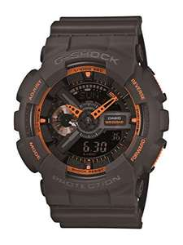 CASIO G-Shock Grey and Orange Resin Men's Watch, £55.56 (UK Mainland) Sold by Amazon US at Amazon