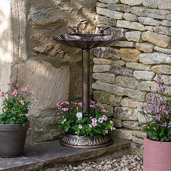 Bronze Bird Bath £10 Free C&C in selected locations @ Dunelm