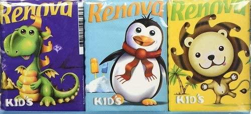 Renova Kids Compact Pocket Square - 6 packages - £1.22 Prime / +£4.49 non Prime @ Amazon