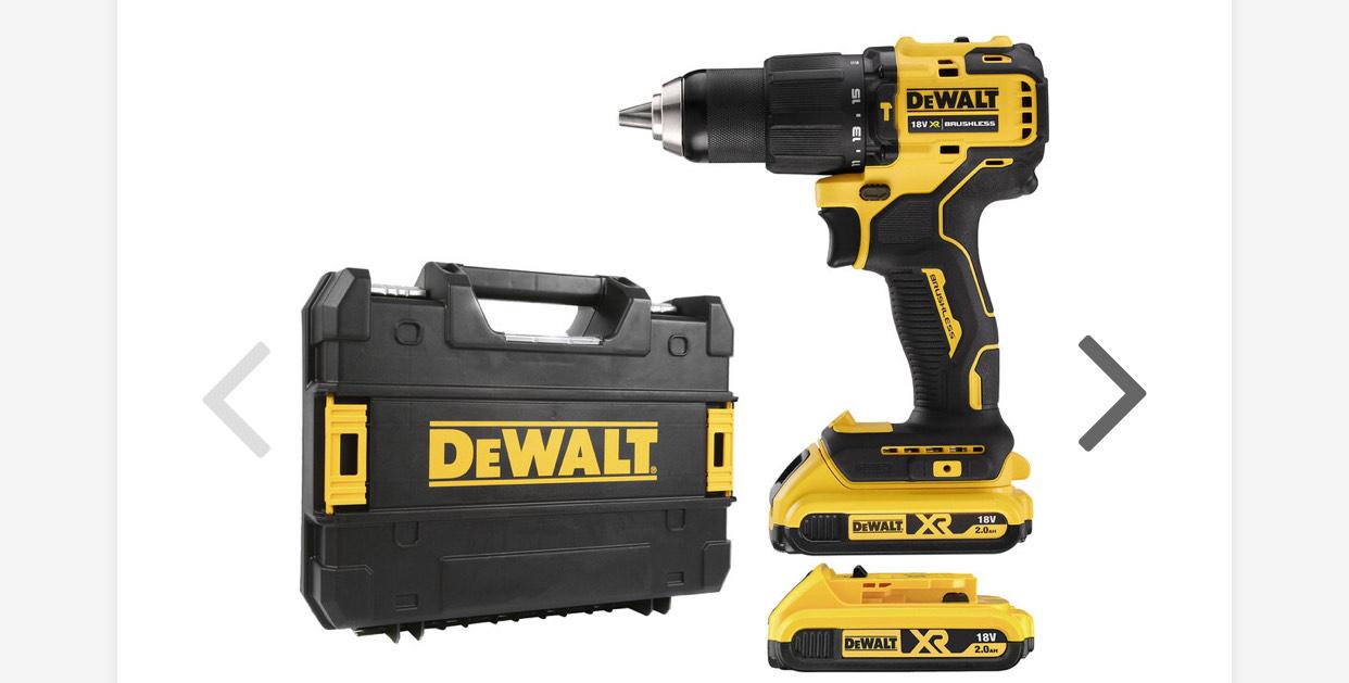 DeWalt DCD709D2T 18V XR Brushless Compact Combi Drill 2 x 2.0Ah £129.98 @ Toolstation