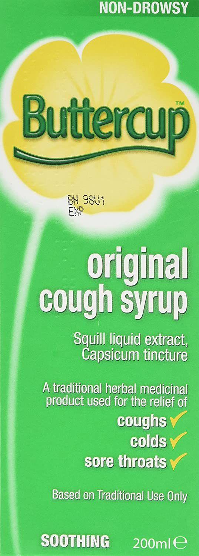 Buttercup Original Cough Syrup, 200ml £1.87 (£4.49 p&p non prime) 20% voucher & 5% s&s £1.41 @ Amazon