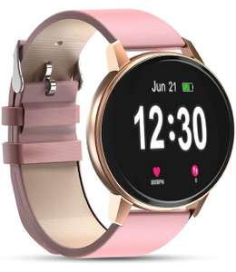 """Smartwatch IP68 Waterproof 1.3"""" Full Touch Screen Heart Rate Monitor - £15.05 With Voucher @ Sold By Maggle EU Fulfilled By Amazon"""