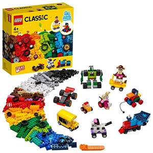 LEGO 11014 Classic Bricks and Wheels Starter Building Set for Kids 4 + Years Old, with Toy Car, Train, Bus, Robot £27.28 at Amazon