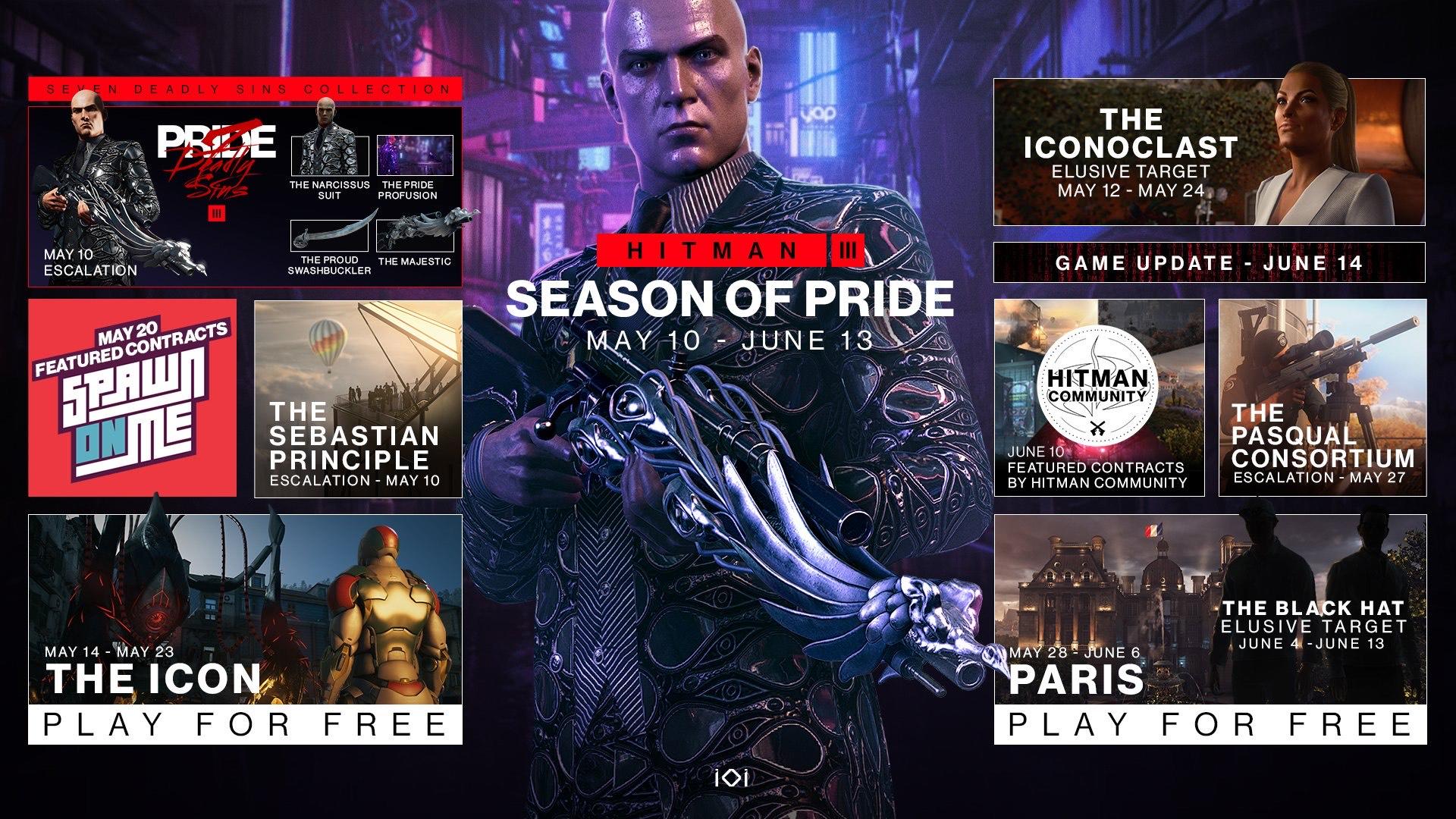 Hitman 3 Season Of Pride Month + Wild Peacock Suit & FREE escalation contract called The Sebastian Principle £3.99 @ Playstation, XBox, Epic