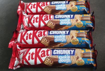Kitkat chunky cookie dough 5 × £1 at Farmfoods York