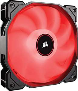 Corsair AF120 Air Series, 120 mm LED Low Noise Cooling Fan - Red, £8.77 at Amazon / £13.26 non prime