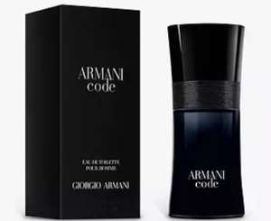 Armani Code Mens EDT 50ml, Free gift 15ml miniature gift + Pouch With Purchase, with code - £43.20 / £38.88 with student discount @ Boots