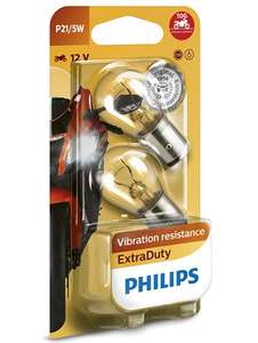 Philips ExtraDuty 12499EDBW Motorbike Indicator Bulb P21/5W Single £0.68 + £4.48 non prime @ Amazon