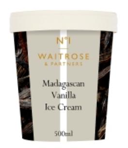 Luxury Waitrose Ice Cream Tubs for £2.50 Each @ Waitrose & Partners